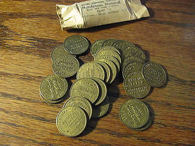 27 Parking Tokens from Hutchinson National Bank & Trust Company Kansas