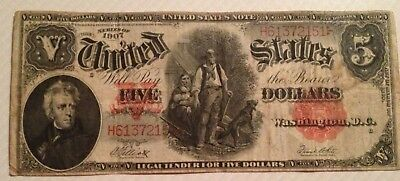 Five Dollar Note Woodchopper, Series of 1907