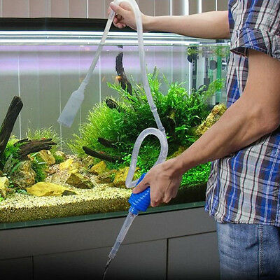 New Aquarium Gravel Fish Tank Vacuum Syphon Cleaner Pump Water 103cm KW