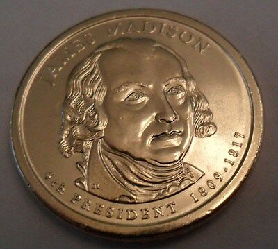 2007 D James Madison Presidential Dollar Coin  **FREE SHIPPING**