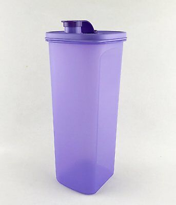 Tupperware H2O Fridge Water Bottle 2L Purple Easy Pouring Fits Fridge Door