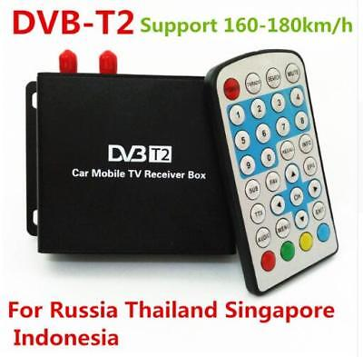 Two Chip DVB-T2 MPEG-4 MPEG-2 Car Digital TV Receiver Box For Russia Thailand