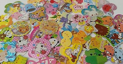 100 pieces of Kawaii Sticker Flakes Cute Japanese Disney