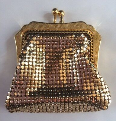 Genuine Vintage Gold Glomesh Coin Purse Like New
