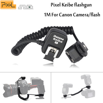 PIXEL Keibe 1M TTL Off-Camera Connect Flash Cable Flashgun sync Cord For Canon