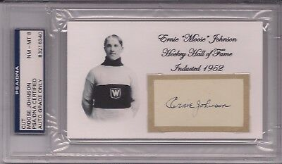 "*Very Scarce* ERNIE ""MOOSE"" JOHNSON Montreal Wanderers PSA/DNA Hockey Autograph"