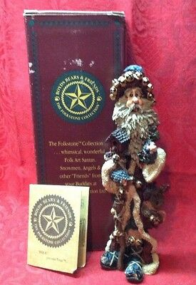 Boyds Bears Folkstones #2804 NA NICK OF THE NORTH 1997 w Box and COA