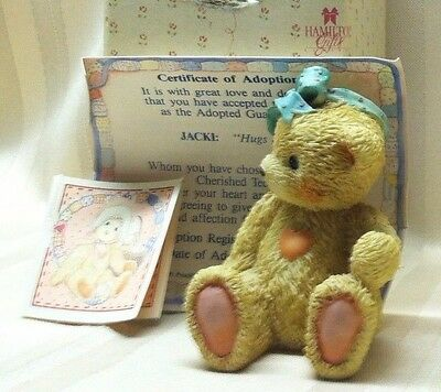 Cherished Teddies JACKI Hugs & Kisses 950432  EXCELLENT Box COA 1991