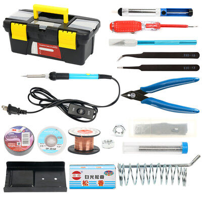 Iron Kit Electronics, 16-in-1, 60W 110V Soldering Iron, in Portable Toolbox