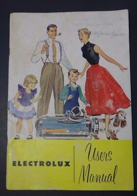 Vintage 1952 Electrolux Model XL Users Manual