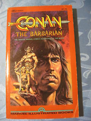 Vtg 1982 1st Ed. Conan the Barbarian Movie Tie-In PB Marvel Illustrated Books