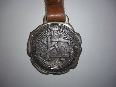 vintage kappa sigma medallion key ring 20th Grand Conclave 1912