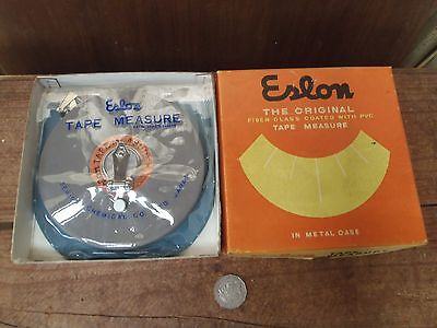Vintage Eslon 30m Tape Measure, Made in Japan, Boxed NOS