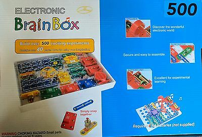 500 Brainbox  Electronic Kit Experiments Ages 8+ & Get Free Train Toy