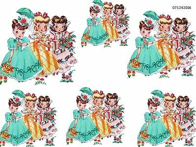 ReTRo GiRLs BeaRinG GiFTs ShaBby WaTerSLiDe DeCALs