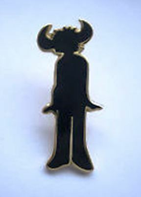 Jamiroquai 'Buffalo Man' black enamel badge. Jay K, soul, Funk, Acid Jazz