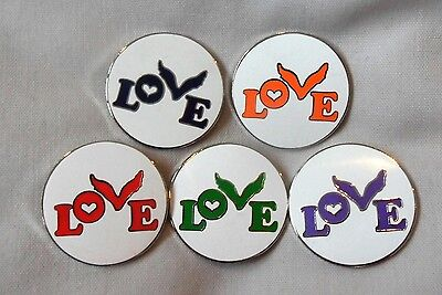 **NEW** Coldplay 'love' enamel badges. Chris Martin, Head Full of Dreams Tour.