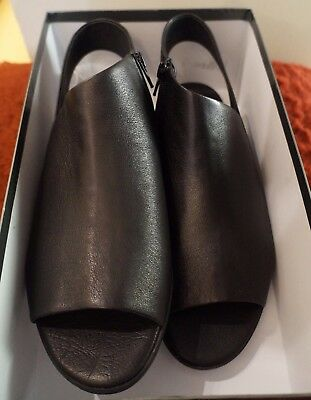 Django & Juliette Echod Flat Black Leather Shoes Brand New Great Quality