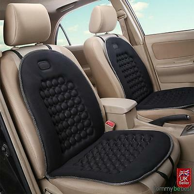 AU Car Seat Cushion Pad Cover Therapy Massage Padded Bubble Foam Chair Black