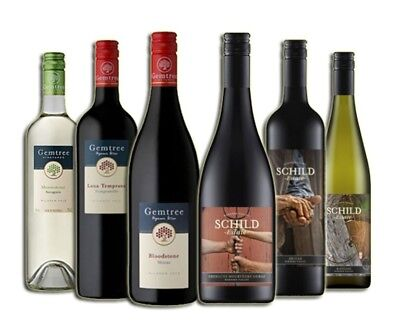 AU Premium Wineries: White & Red Wine Mixed - 6 Pack - RRP$199 - Free Shipping