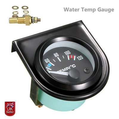 "2"" 52mm Digital LED Car Auto Water Temp Temperature Gauge Kit 40-120℃ Universal"