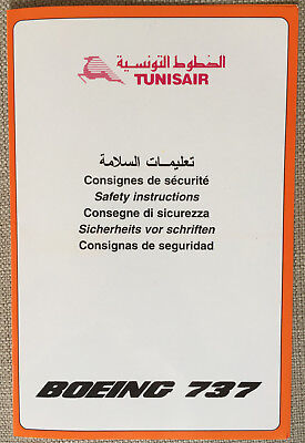 Tunisair B737 Safety Card