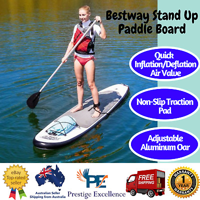 NEW Bestway Stand Up Paddle Board Inflatable Includes Adjustable Aluminium Oar