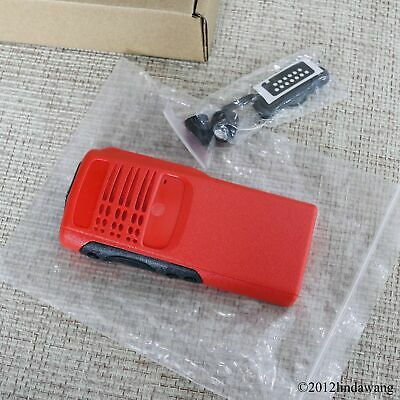 Red Housing Cover Front Case Refurbishment Kit for Motorola GP340 Portable Radio