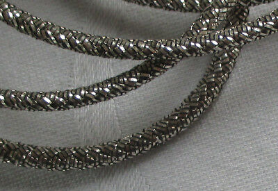 Vintage Silver Metallic Cording Multi-Strand Nice Color French