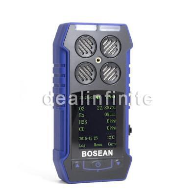 4 in 1 Toxic And Harmful Gas Alarm Detector CO O2 H2S Oxygen Analyzer Meter US!!