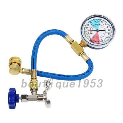 R134A Air Conditioning Recharge Measuring Hose Gauge Valve Refrigerant Pipe Hot