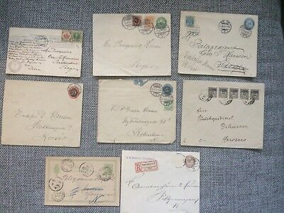 Denmark - Lot old letters and postcards