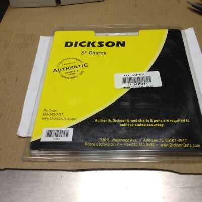 ** Pack of 60 **, DICKSON C482 Chart, 8 In, -20 to +50, 31 Day, Add'l Ship Free