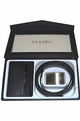 Azzaro Pour Homme Leather Black Belt and Credit Card Holder
