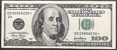 USA 100 Dollar Banknote Series 2001 One Hundred STAR NOTE low number 5169