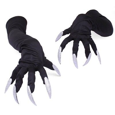 Halloween Monster Hands Gloves Long Fingers Paws Claws Cosplay for Costume Party