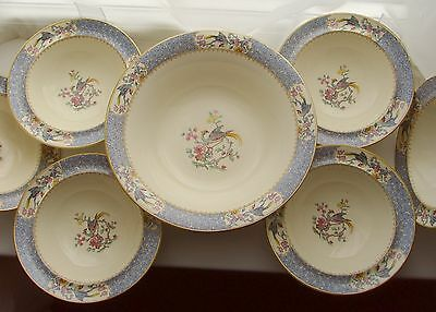 Rare Design - Myott, Son & Co Set Of Dishes & Serving Bowl - Vintage Trifle Dish