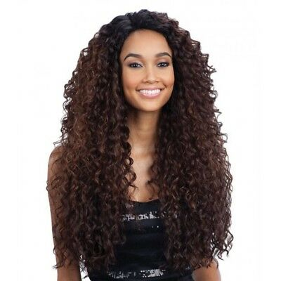 FreeTress Equal Deep Invisible L Part Lace Front Wig natural-look style – Kitron