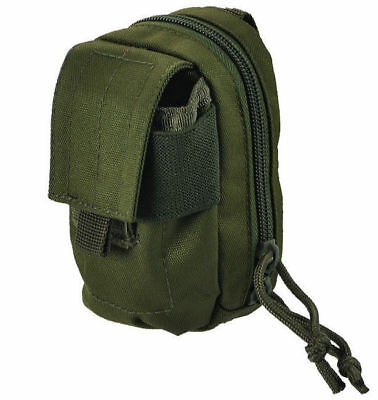 Mil-Tec Padded Tactical Phone Camera Cover MOLLE Utility Belt Pouch Olive OD