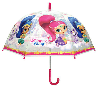 Shimmer and Shine Umbrella - 48cm Girls Dome Brolly - Nickelodeon