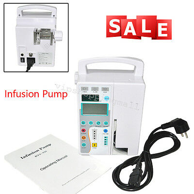 Medical IV Fluid Infusion Pump Equipment Machine Audible Visual Alarm Easy Use