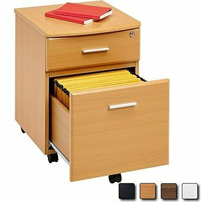 BEECH Filing Cabinet Pedestal Drawer Stationary Office Desk Storage PC Lockable