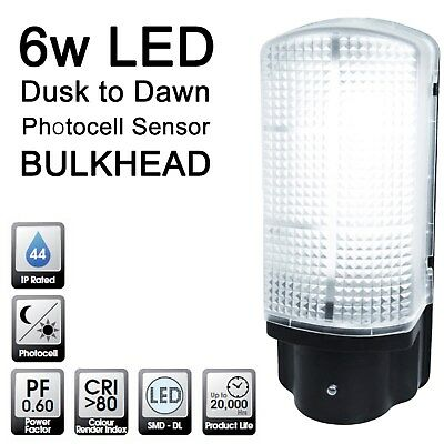 Quality LED Dusk to Dawn Photocell Sensor Bulkhead Outside Security Wall Light