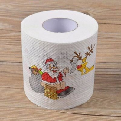 Santa Claus Reindeer Christmas Toilet Paper Tissue Table Room Home Décor Gift