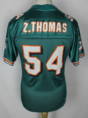 Z. THOMAS #54 Miami Dolphins American Football Jersey NFL Youths Large Reebok