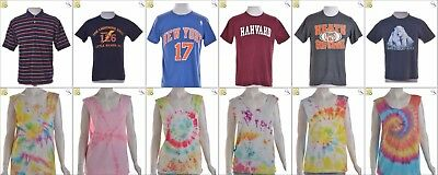 JOB LOT OF 47 VINTAGE MIXED UP-CYLCED T-SHIRTS - Mix of Era's, styles and sizes