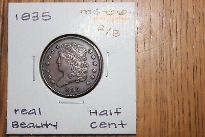 1835  Real Beauty  R/b  Unc+++  Half Cent