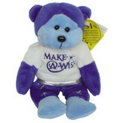 "Skansen  Beanie Kid ""believe"" The Make A Wish Bear Mint With Mint Tag"
