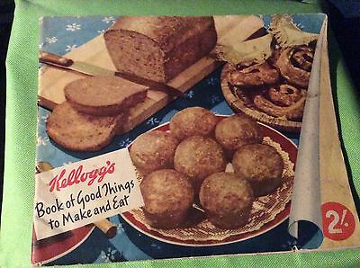 Kellogg's Book of Good things to make and Eat recipe book 1940s Collectable
