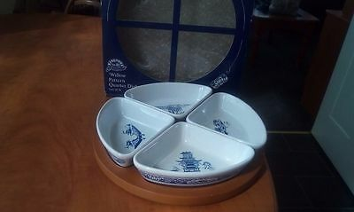 ringtons willow pattern quarter dishes